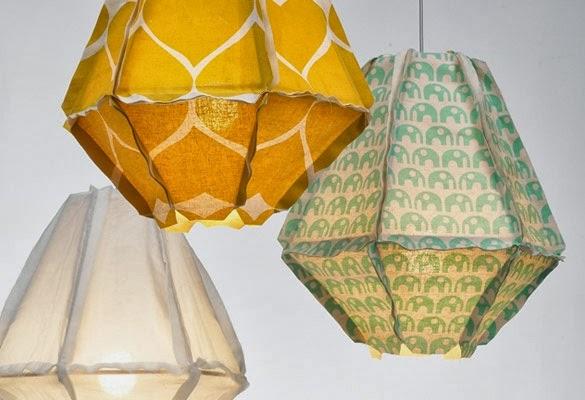 lamparas de telas variadas