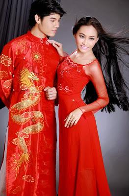 trang phục chú rễ áo dài