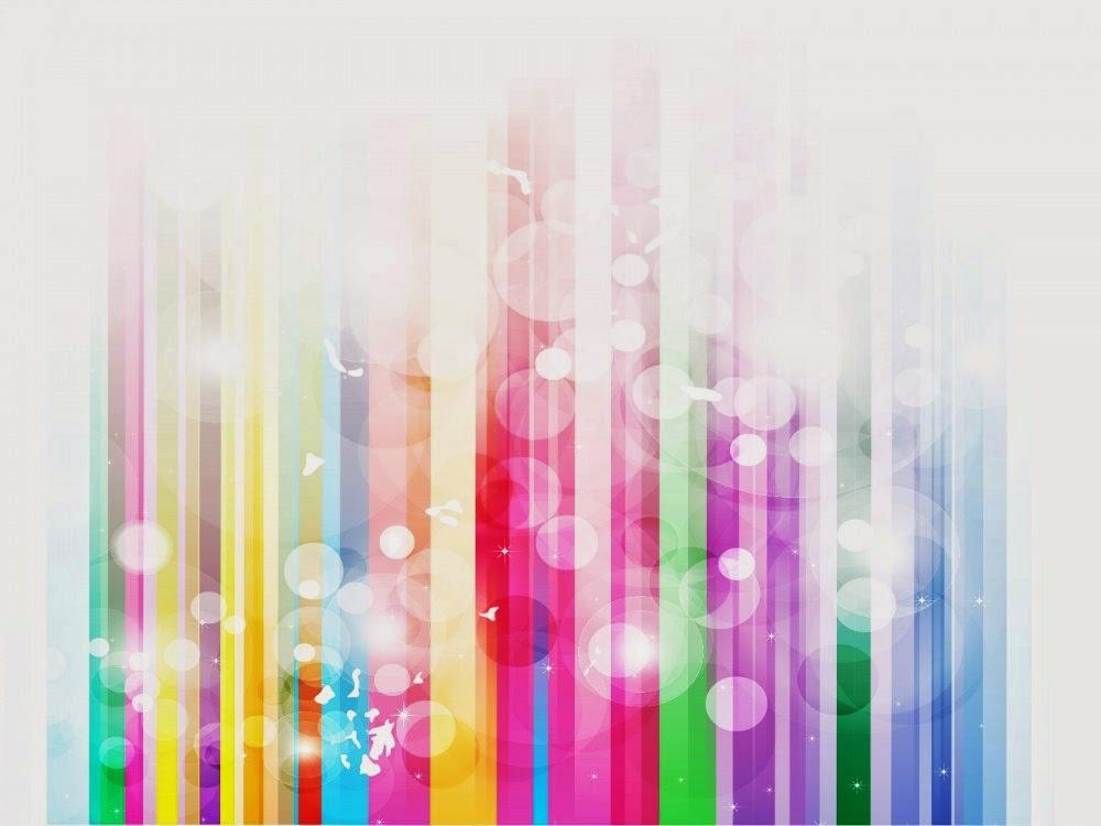 Souvent Rainbow Stripes Bubble Modèle PowerPoint | Modéles , thémes et  VQ26