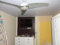 18 M² Forro pvc colocado com ventilador