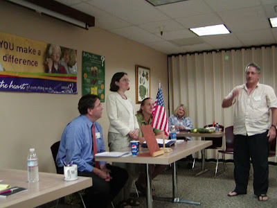 Toastmasters debate: Introduction of participants