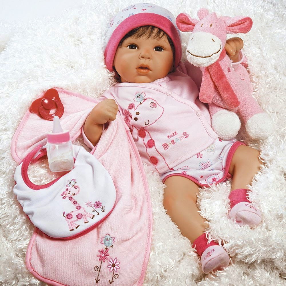 Paradise Galleries Lifelike Realistic Baby Doll, Tall Dreams, 19-inch Weighted Baby