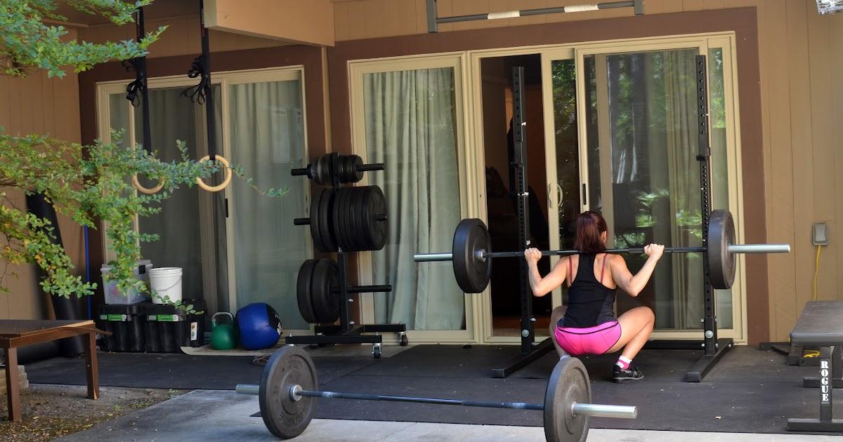 Jes crossfit my home gym