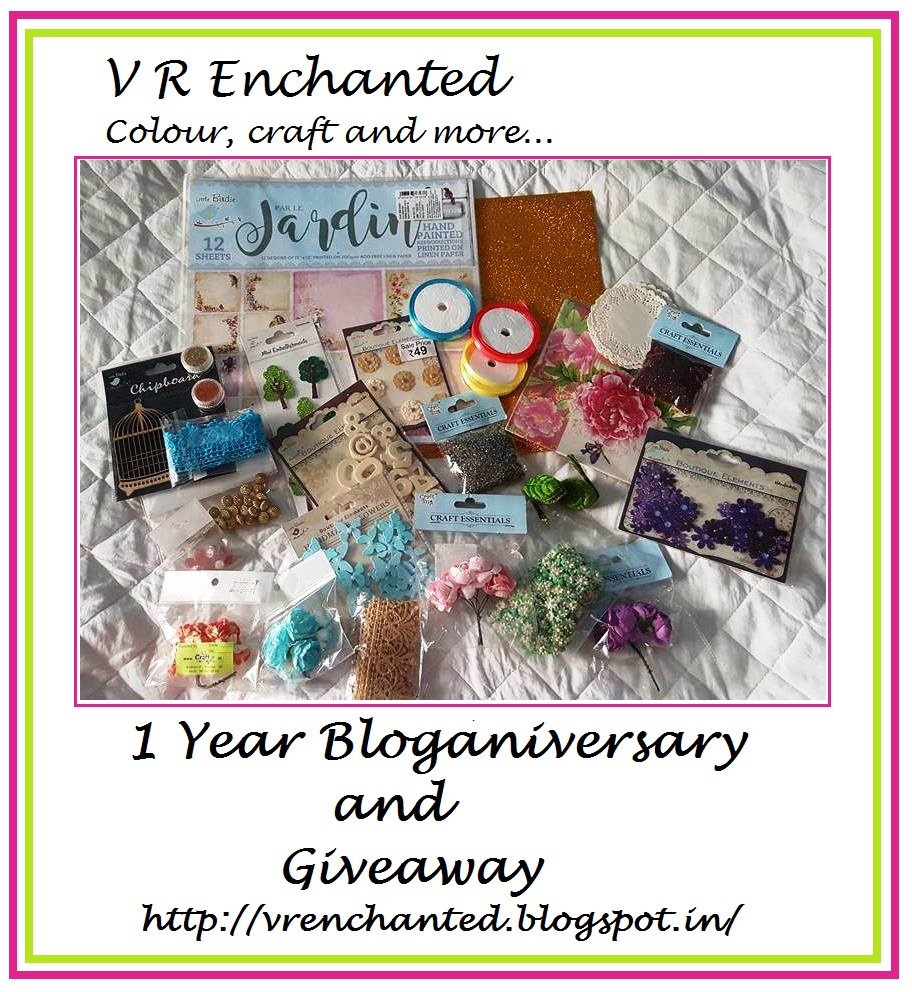 1 Year Bloganiversary and Giveaway