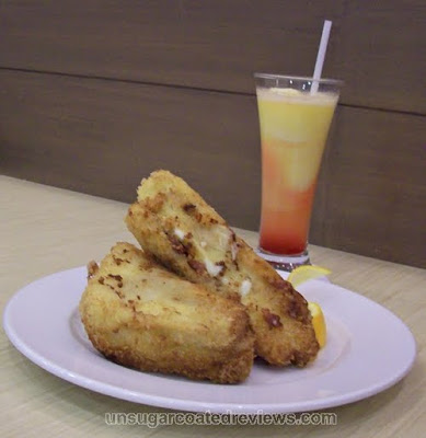 UCC Vienna Cafe Cliffhanger Sandwich and Hawaiian Sunrise
