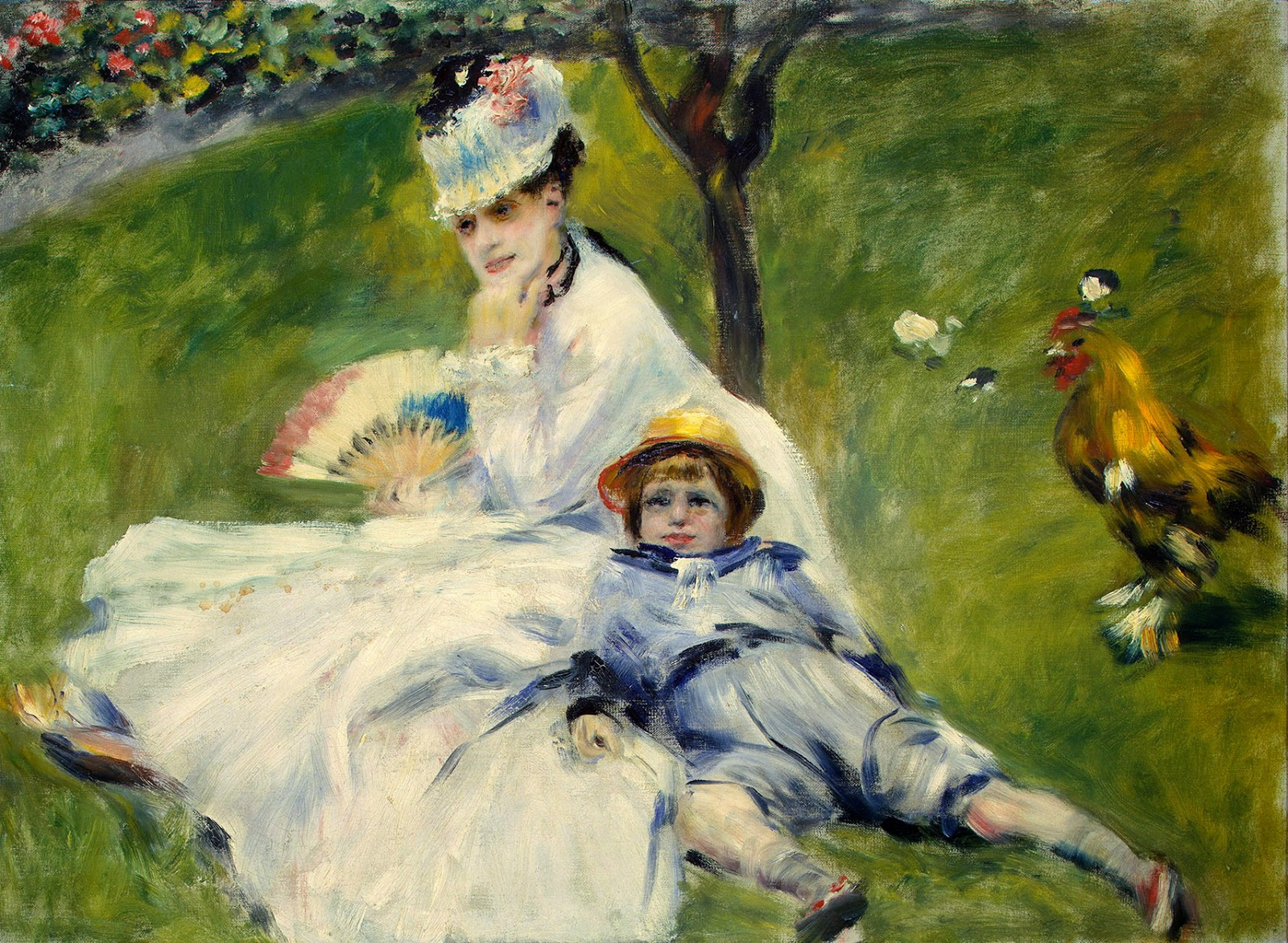 Pierre-Auguste Renoir, Madame Manet y su hijo (1874), National Gallery of Art, Washington