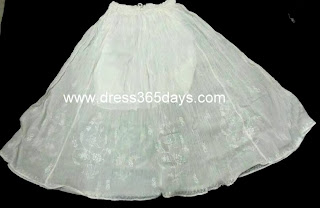 Western Chikankari Skirt