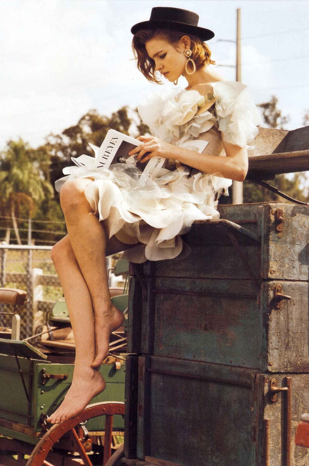 Natalia Vodianova in Vogue Italia March 2008 (photography: Bruce Weber, styling: Anne Christensen)