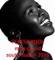 TERESA YUOL - MISS GRAND SOUTH SUDAN 2016