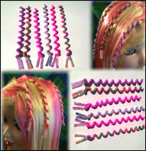 Trendy Amazing Hair Wraps: Look at the new spiral hair wrap!