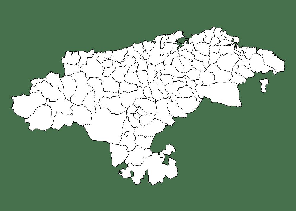 Mapa mudo de Cantabria para imprimir
