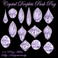 Crystal droplets Pack PNG tubes