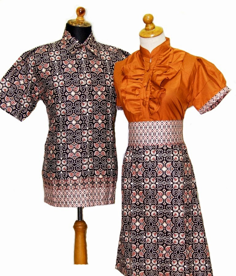 Gambar model baju batik modern Pasangan