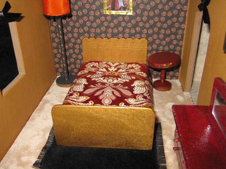 dollhouse decorating make your own miniature dollhouse fringe rug. Black Bedroom Furniture Sets. Home Design Ideas