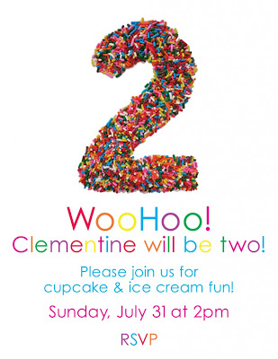 Clementine 2nd Bday Invite 03 790x1024 Cute birthday invitation