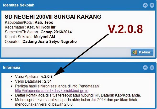 PATCH V.2.0.8 APLIKASI DAPODIKDAS 2013 SUDAH RESMI DIRILIS – BAGI