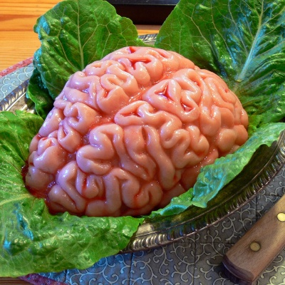Halloween hjerne dessert