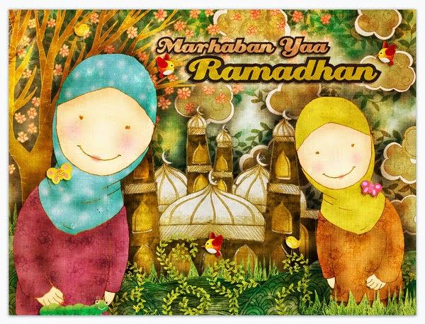 Wallpaper Ucapan Bulan Ramadhan 2014