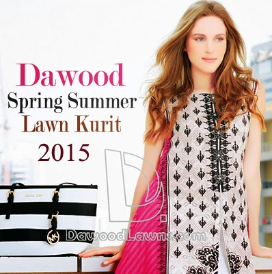 Dawood Spring Summer Embroidered Lawn Kurti