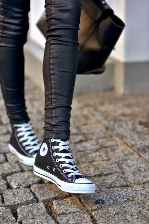 See more All Star Sneakers With Leather Pants