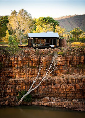 One of the three new cliff side retreats overloking The Chamberlain Gorge below