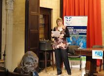 Claudia Touris, responsable del Comité Organizador de las II JORNADAS RELIGAR-SUR, en la apertura