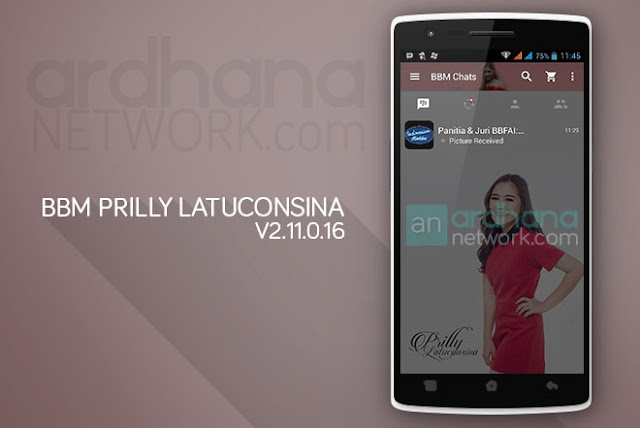 BBM Prilly Latuconsina - BBM Android V2.11.0.16