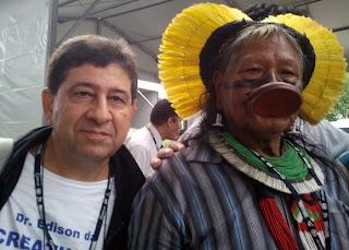 Dr. Edison da Creatinina conversou com o cacique Raoni