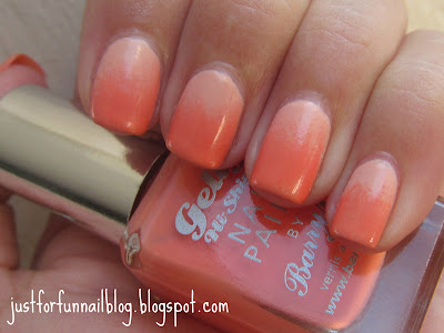 31DC2013 Day 10 - Gradient Peach Nails