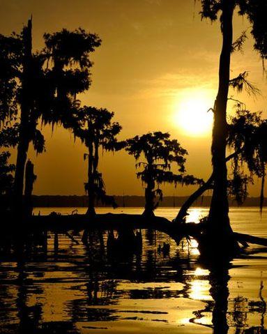 Sunrise on Lake Verret