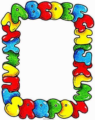 Educar x bordas pedag gicas coloridas para escola for Bordas para mural