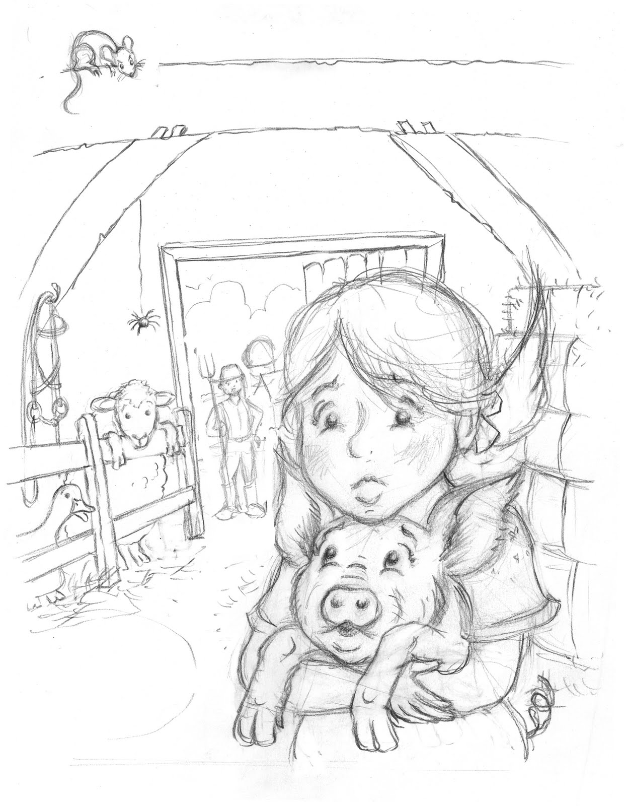 charlottes web coloring pages print - photo#23