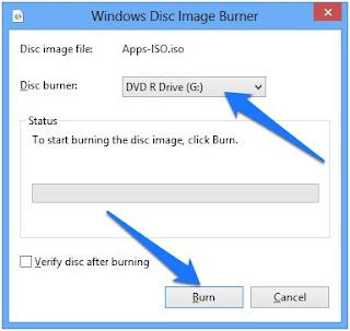 Cara Burning Windows 8 / 8.1 Ke Dvd Dengan Menggunakan Tool Bawaan Windows