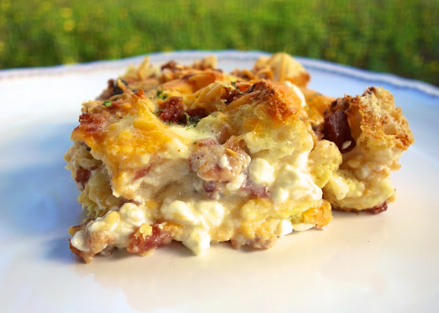 Cheesy Bacon Breakfast Casserole - Plain Chicken