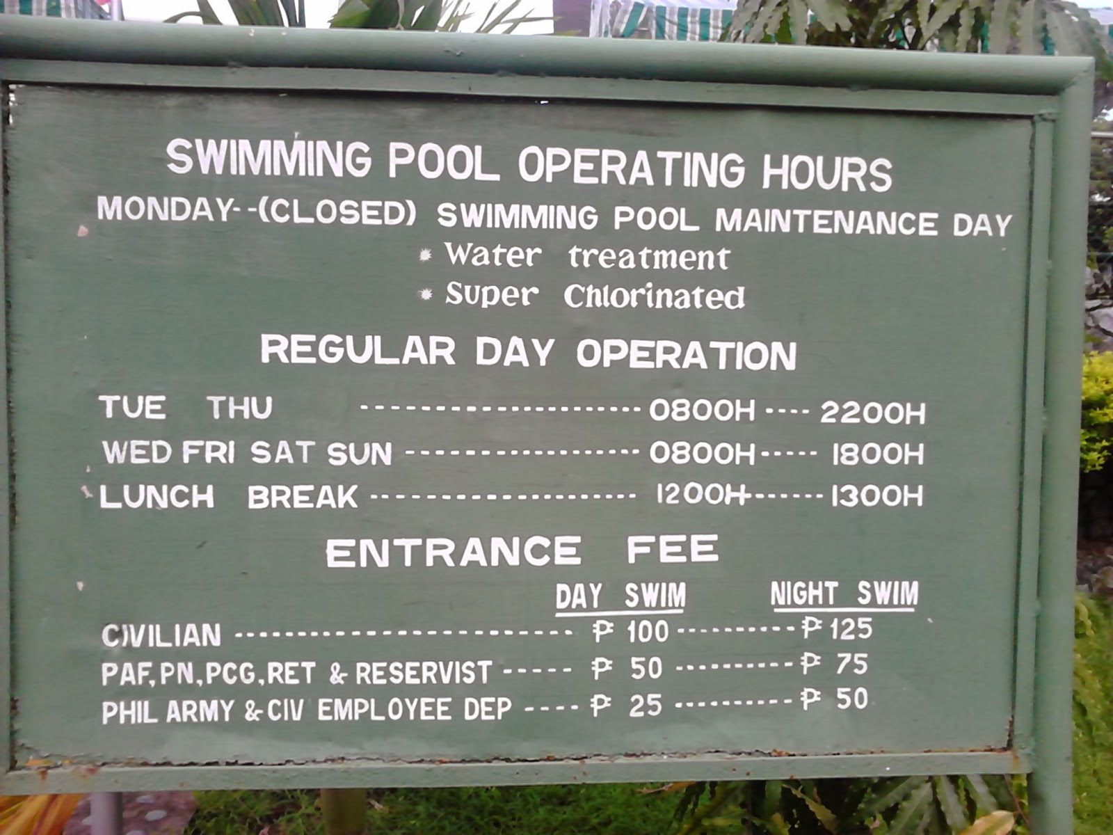 Swimconsulting Swimming Pool Selection Series Philippine Army Swimming Pool