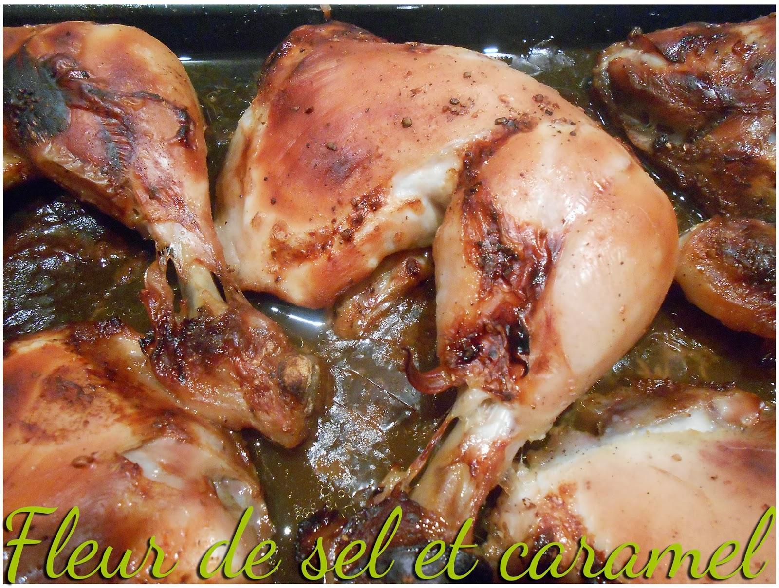 Fleur de sel et caramel cuisses de poulet marin es la - Cuisse de poulet calories ...