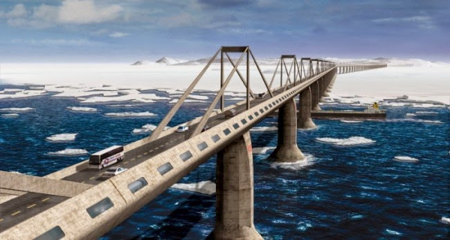 Epic Bridge to Connect America with Russia, So You Can Road trip from NYC to Moscow