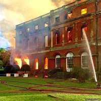 RUINS AFTER FIRE AT CLANDON HOUSE
