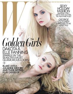 Dakota and Elle Fanning for W Magazine Cover