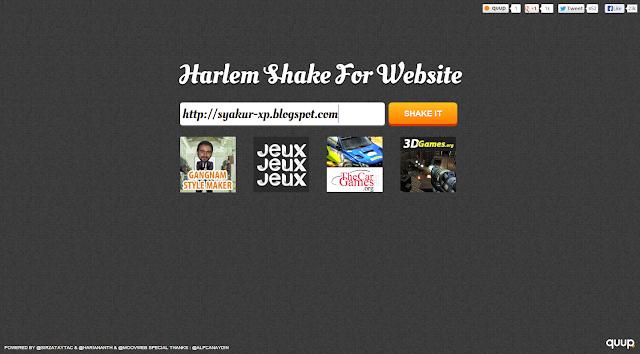 Harlem Shake Versi Blog Syakur