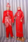 Baju Pengantin Merah Sedondon