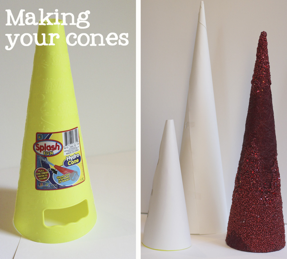 how to make a cone with poster board