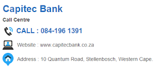 Capitec Bank Customer Service Number South Africa