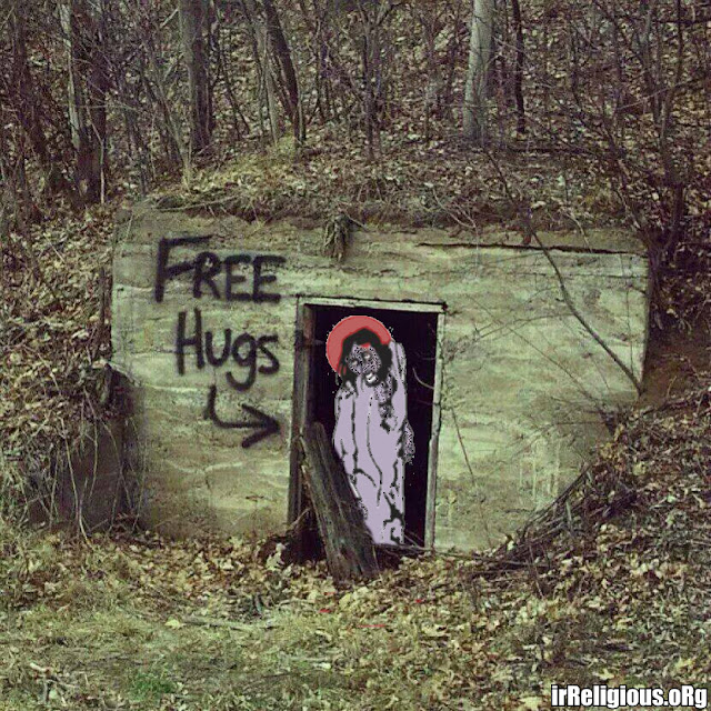 Creepy Zombie Jesus Free Hugs Picture