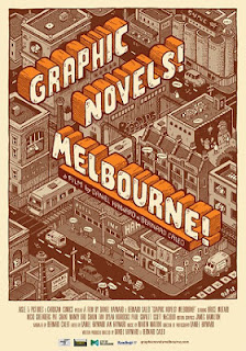 Graphic Novels! Melbourne! Bernard Caleo Daniel Hayward Pat Grant poster