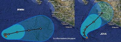 IRWIN und JOVA aktuell: IRWIN wird als erster zum Hurrikan - Tendenz Landfall JOVA: Puerto Vallarta, Irwin, Jova, Pazifik, aktuell, Satellitenbild Satellitenbilder, Mexiko, Verlauf, Vorhersage Forecast Prognose, Puerto Vallarta, Nayarit, Jalisco, Oktober, 2011, Hurrikansaison 2011,