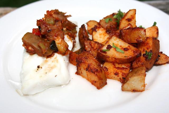 Spanish Cod w/ Ratatouille & Potatoes