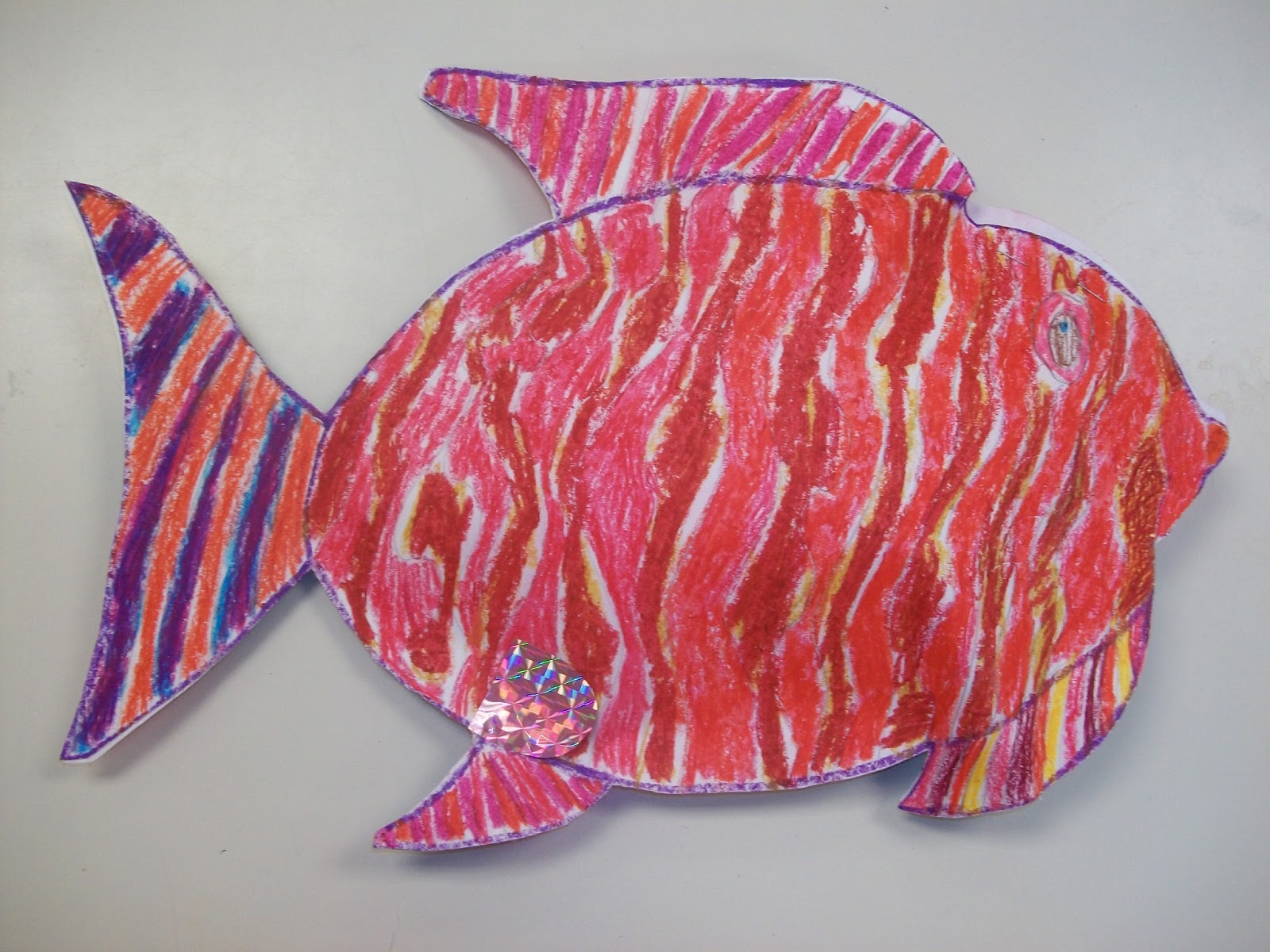 The Magnificent Paintbrush: 3-D Color Theory Fish--Rainbow Fish Inspired