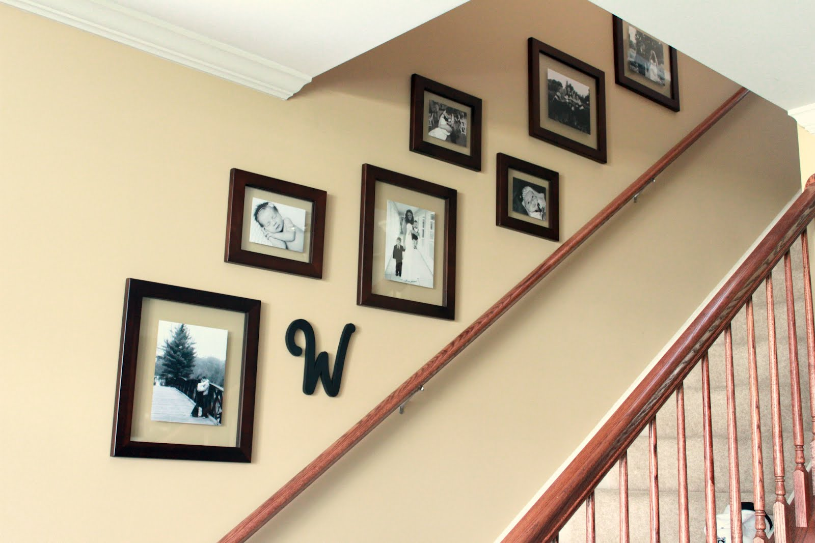 Charming Staircase Gallery Wall