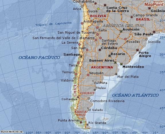Mapa geográfico de Chile